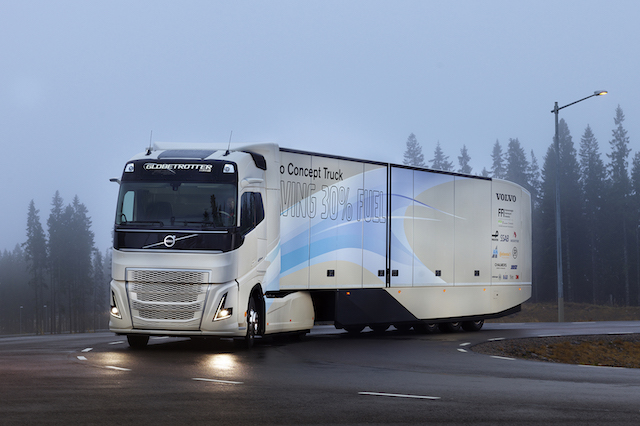 Volvo concept tests hybrid powertrain for long-haul missions