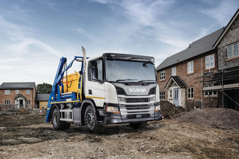 Scania/Hyva reveal new P-series skiploader