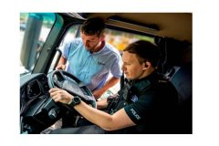 Motorway police make the grade with truck driver training