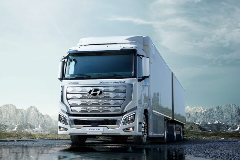 Hyundai ships world's first fuel cell heavy truck to Switzerland