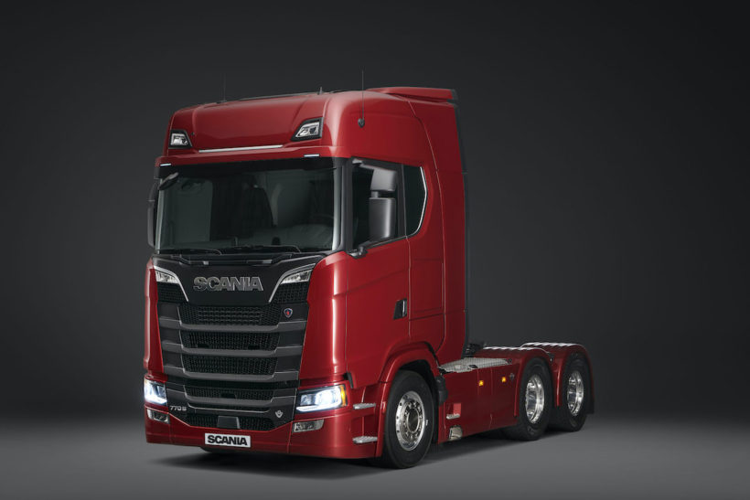 Scania launches 770 bhp truck alongside new V8 range