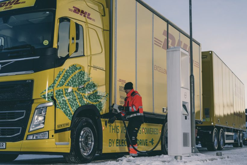 Heavy duty electric truck project announced by Volvo and DHL