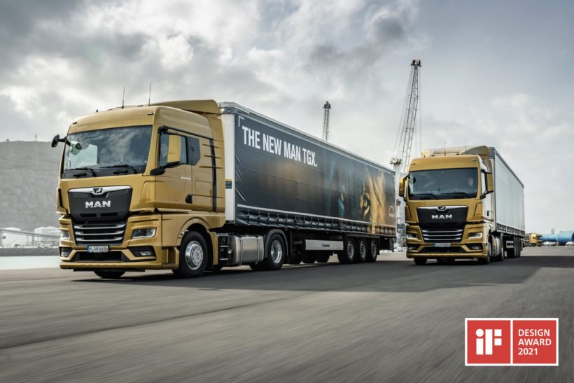 Design functionality of MAN trucks wins over awards judges
