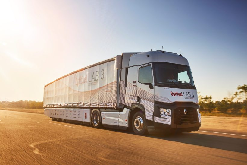 Renault's research truck records consumption reduction