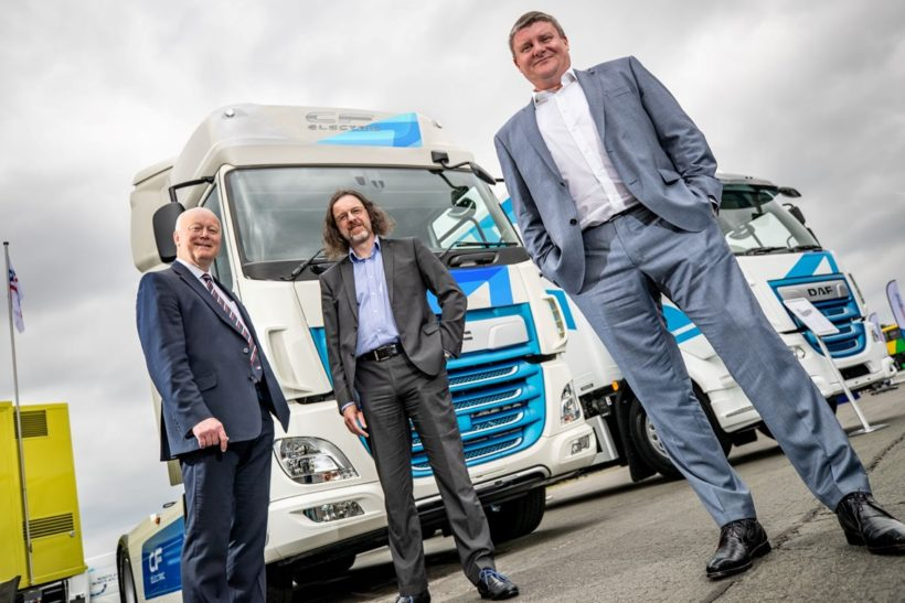 First DAF CF Electric trucks on their way to Wales