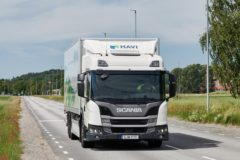 Plug-in hybrid truck from Scania heads to HAVI